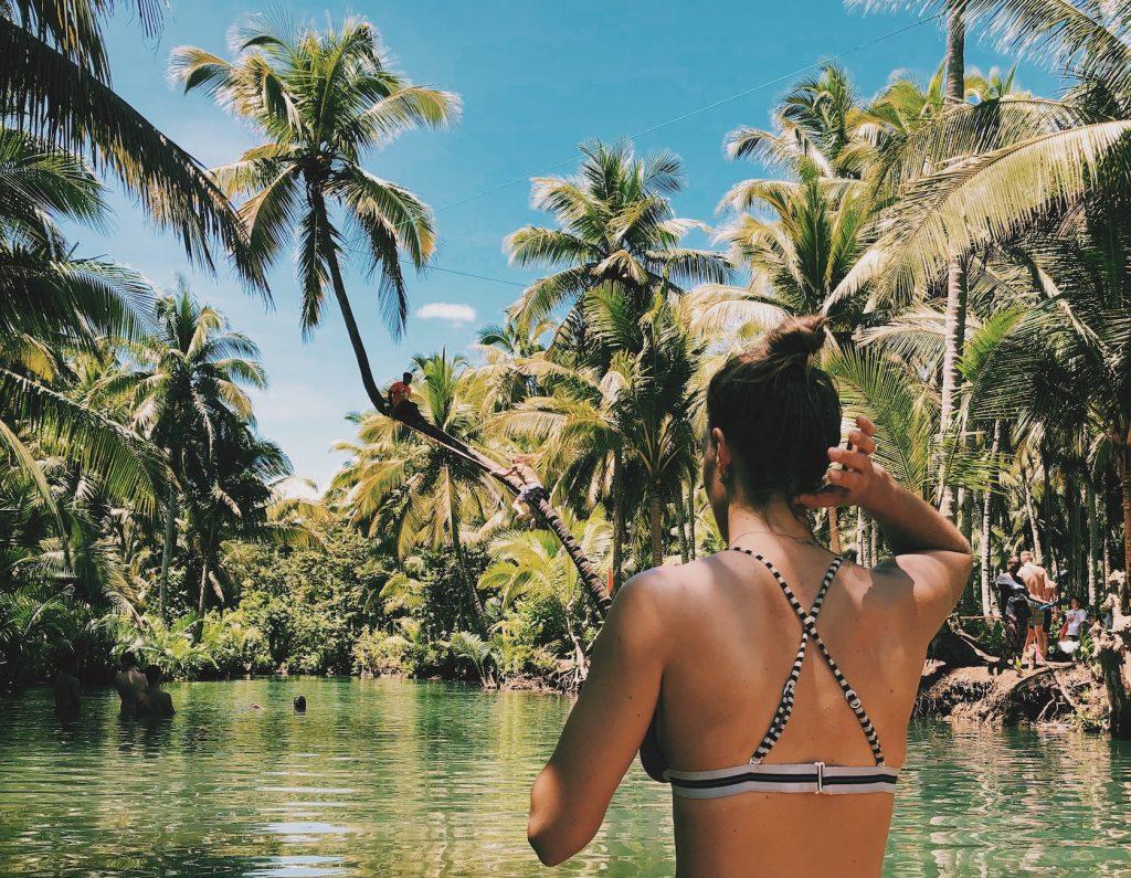 Palm Tree Swing Maasin Siargao Solon Travel