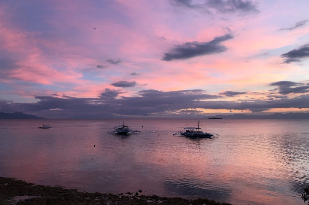 Sunset Moalboal Solon Travel Cebu