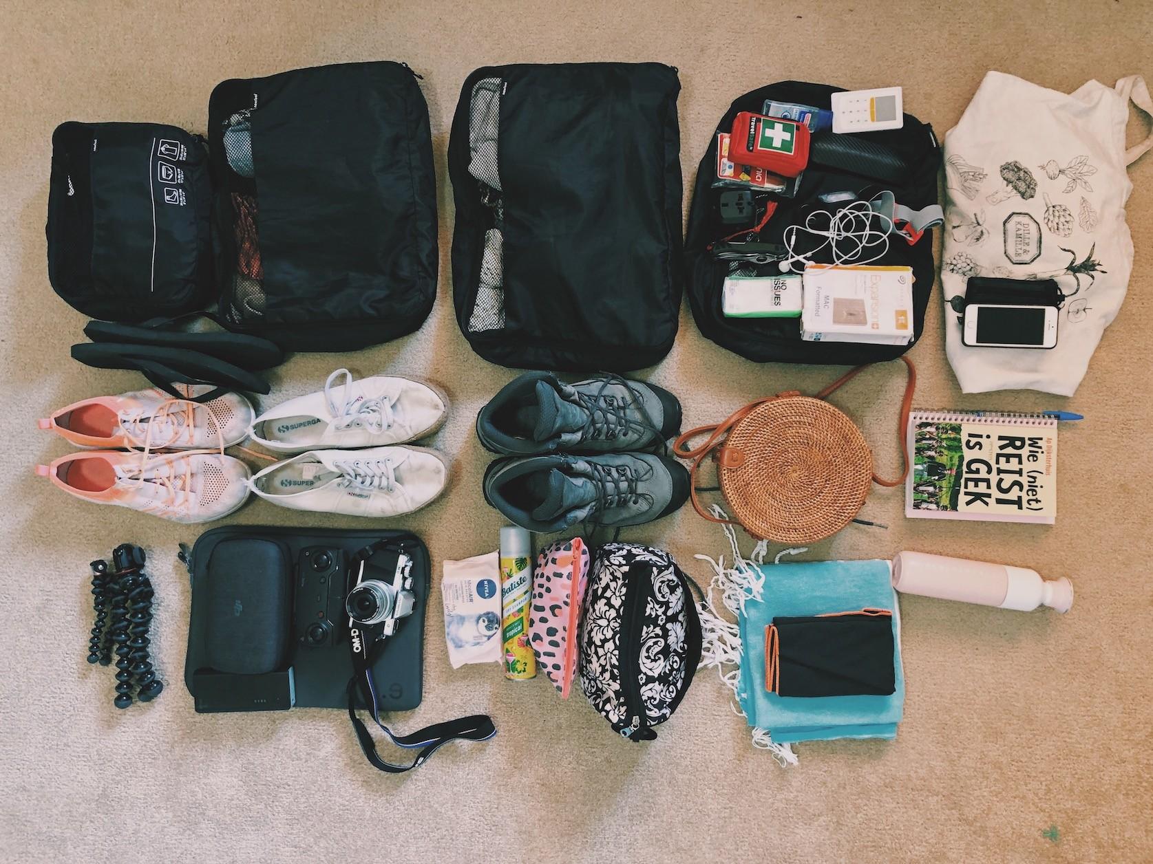 Inpakken op reis Solon Travel meenemen backpacken