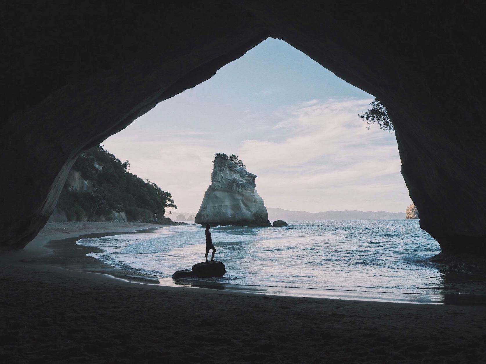 Cathedral Cove New Zealand Nieuw-Zeeland Coromandel solon Travel backpacken roadtrips