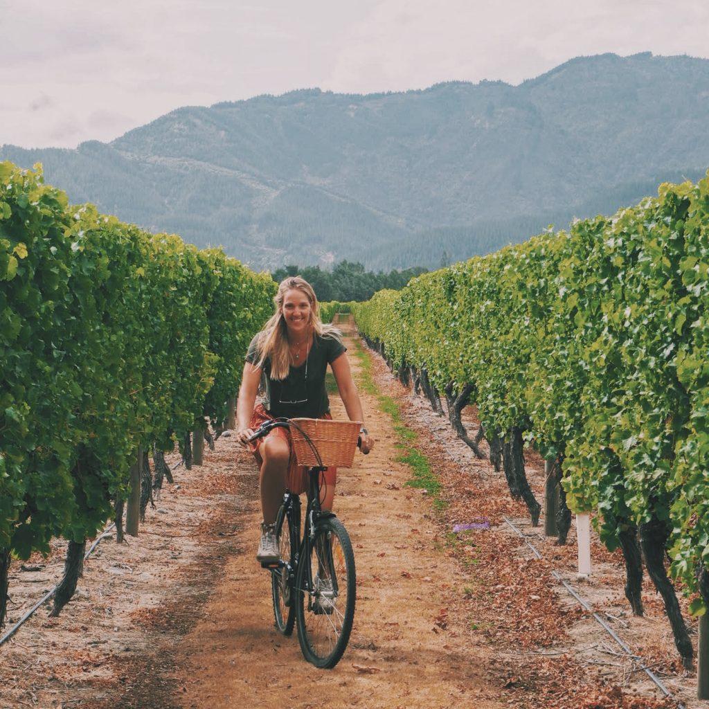 Fiets huren renwick wijnaasting wijnproeverij Marlborough Solon Travel