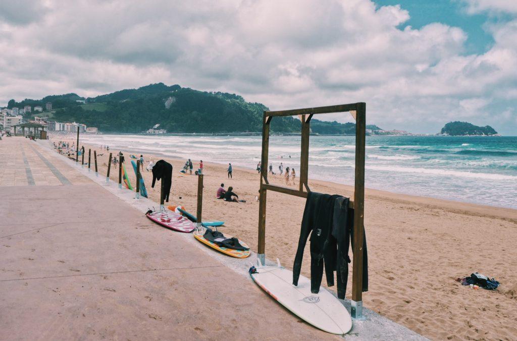 Zarautz Surfing boulevard Spanje Solon Travel surfen
