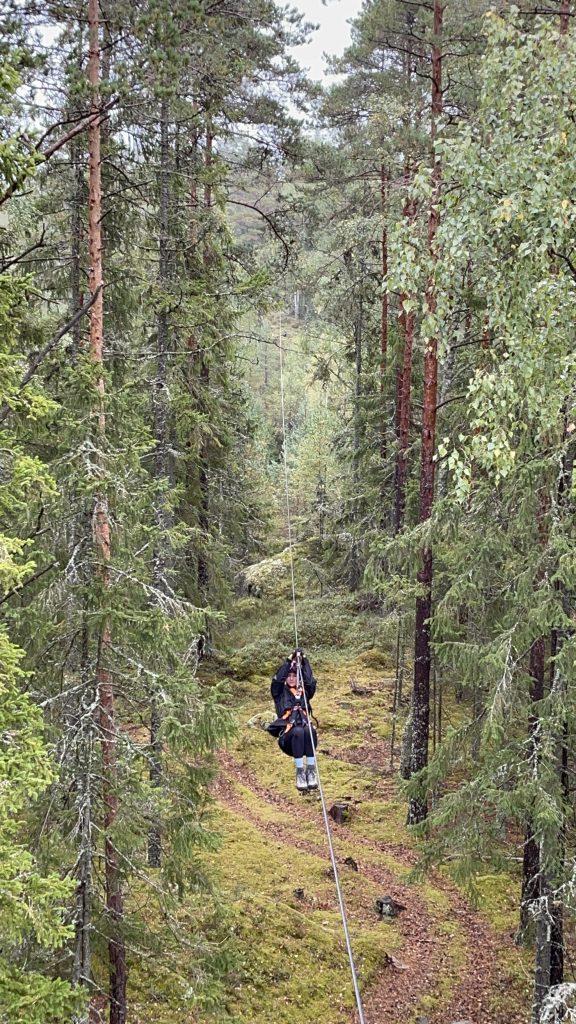 zipline Sweden zweden Little Rock lake Smaland Småland Solon Travel